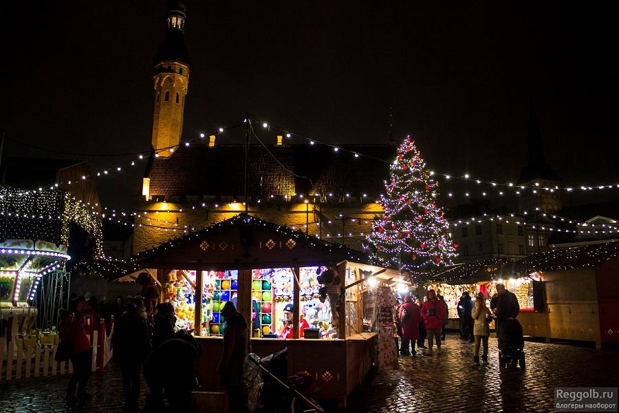 Таллин Старый город ярмарка
